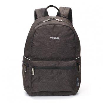 Рюкзак torber graffi, серый с карманом черно-белого цвета, полиэстер, 44 x