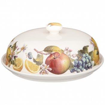 Блюдо круглое с крышкой lefard фрукты 23 см (кор=8шт)