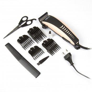 Машинка для стрижки волос irit ir-3307, 10 вт, 220 в, 4 уровня стрижки, цв