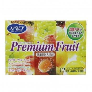 Соль для ванны на основе углекислого газа fuso kagaku premium fruits с тон