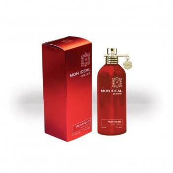 Туалетная вода женская mon ideal de luxe red night, 100 мл