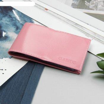 Визитница горизонтальная, на 10 карт, цвет розовый