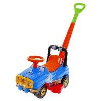 Автомобиль джип-каталка с ручкой, цвета микс