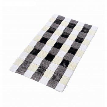Коврик для ванной комнаты carre, серый, 70x120 см