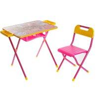 Набор детской мебели дэми 3. винни пух складной: стол, стул и пенал, цвет