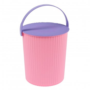 Ведро-стул 10 л solano, цвет розовый аметист