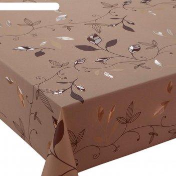 Клеенка столовая meiwa lp-186 l.br, 140 см, рулон 20 п.м., коричневый