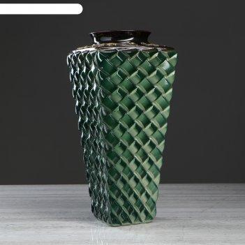 Ваза ратанг, зелёная глазурь, 41 см