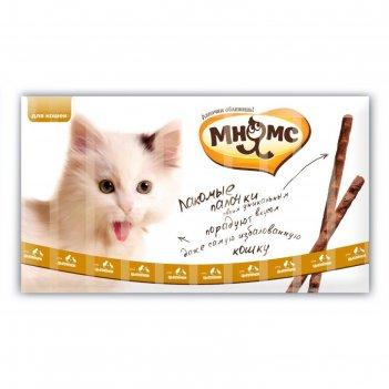Лакомые палочки мнямс для кошек, с цыпленком и уткой, 13,5 см, 10 х 5 г