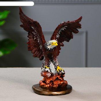 Статуэтка орел малый, рисованный, 12х18х23,5 см