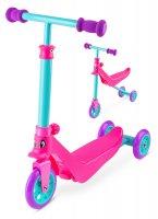 Беговел-самокат для малышей zycom zykster 2 in 1 розово-аква-фиолетовый