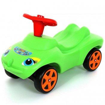"""44617 каталка """"мой любимый автомобиль"""" зеленая со звуковым сиг"""