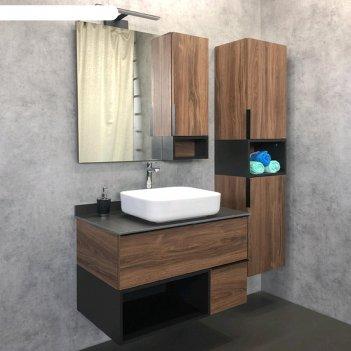 Шкаф-колонна comforty «штутгарт-40», дуб тёмно-коричневый