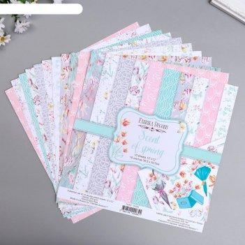 Набор бумаги для скрапбукинга scent of spring  10 листов, 30,5х30,5 см