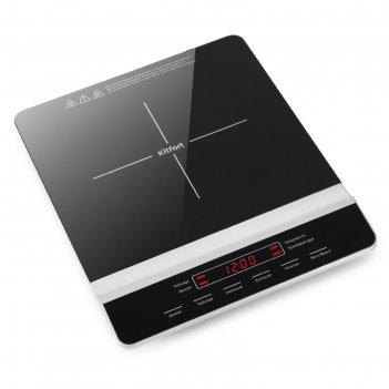 Плитка индукционная kitfort кт-129, 1700 вт, 1 конфорка, таймер, сенсор, ч