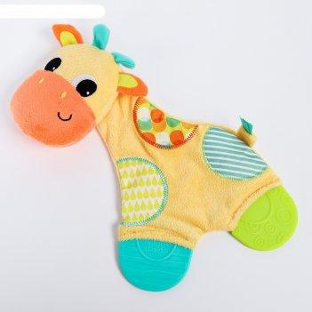 Развивающая игрушка «самый мягкий друг, жираф» с прорезывателями