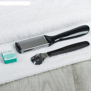 Набор педикюрный cosmetic series 3 предмета: нож педикюрный, терка, набор