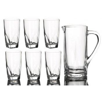 Набор для сока диаманте 7 пр.: кувшин+6 стаканов