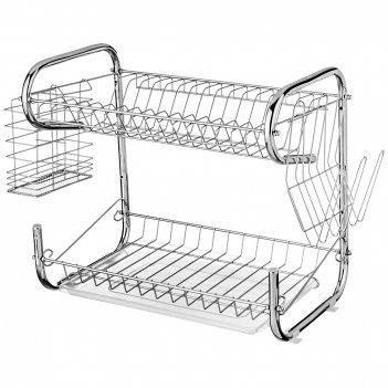 Подставка под посуду agness  настольная+пластиковый поддон 40*24,5*36 см (