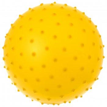 Мяч массажный цветной матовый 100гр pvc микс в пак d=30 см, цвета микс