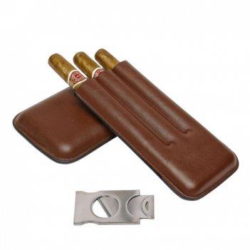 Футляр для 3-х сигар с гильотиной от aficionado