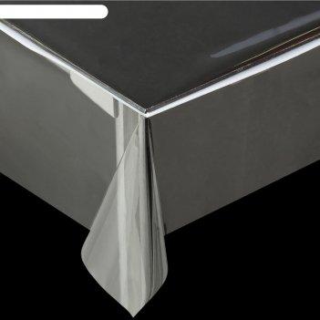 Клеенка пвх, ширина 137 см, толщина 0,28 мм, рулон 50 м, прозрачная