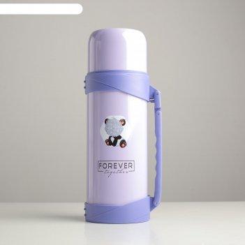 Термос 1.2 л forever, сохраняет тепло 18 ч, фиолетовый
