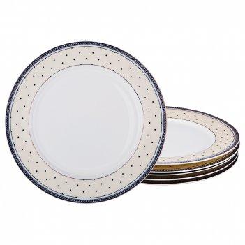 Набор тарелок на 6 персон 6 пр. бриджит диаметр=25 см (кор=6наб.)