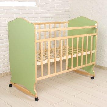 Детская кроватка морозко, цвет зеленый