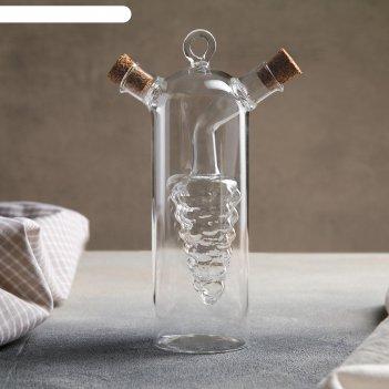 Бутыль «2 в 1» для соусов и масла «виноград», 300/50 мл