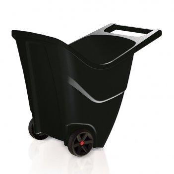 Садовая тележка prosperplast load   go ii 85л, черный