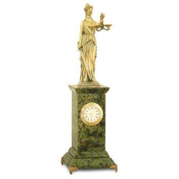 Настольные часы фемида змеевик бронза 80х80х290 мм 1000 гр.