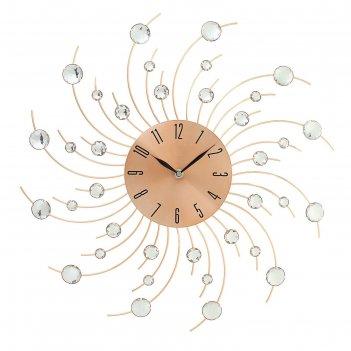 Часы настенные серия ажур лучики витые с кр латунь d=49см