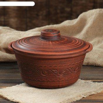 Горшок для запекания 1.2 л, красная глина