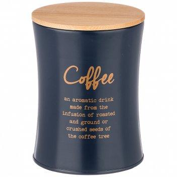 Емкость для сыпучих продуктов agness navy style кофе диаметр=11 см высота=