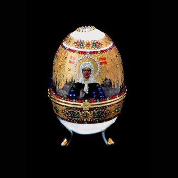 Картина сваровски - православное яйцо