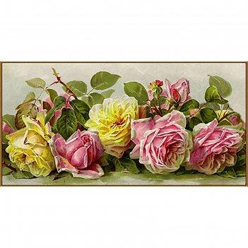 Алмазная мозаика винтажные розы, 39 цветов