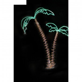 Светодиодная композиция пальмы, объемная, 2 х 2,3 х 1,4 м, 46 м, 130 w