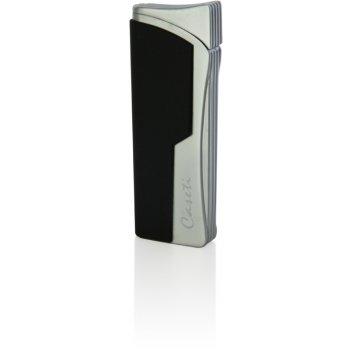 Зажигалка caseti газовая турбо, сплав цинка, черный карбон, 2,