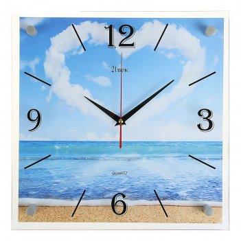 Часы настенные квадратные сердце из облаков 35х35 см