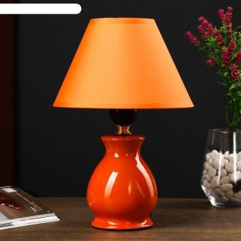 Настольная лампа 7004 1х60w e27 оранжевый 18х25 см