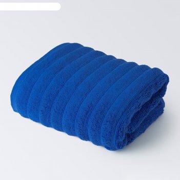 Полотенце лайфстайл, размер 70х130 см, светло-синий