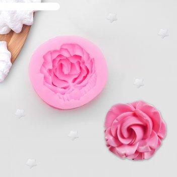 Молд силиконовый «роза», 4,5x2 см
