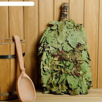 Веник для бани ароматы леса из кавказского дуба с травами, в индивидуально