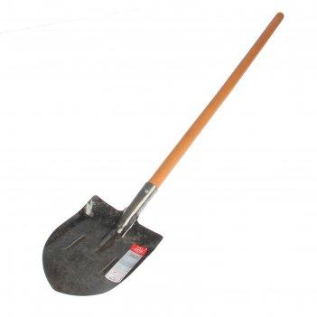Лопата комбинированная, с ребрами жесткости, деревянный черенок, премиум