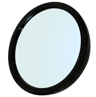 Зеркало mr-9m45  заднего вида, пластик, черное, с ручкой  23 см