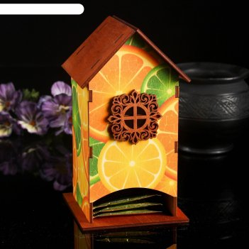 Чайный домик цитрус 10х9х18см