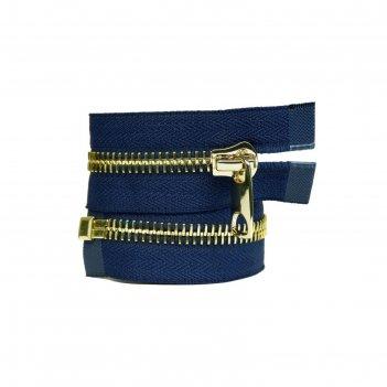 Молния для одежды, разъёмная, №10, 65 см, цвет морской синий