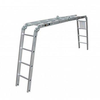 Лестница-трансформер вихрь лта 4х4, алюминиевая, рабочая высота 4.3 м
