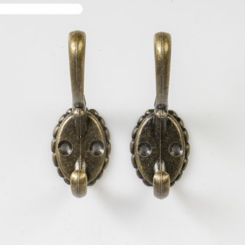 Крючок двойной металл ретро бронза 8х5,5х2,6 см